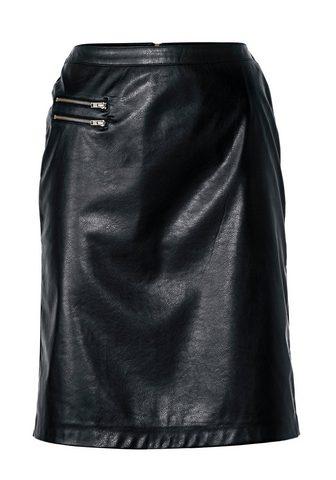 RICK CARDONA BY HEINE Dirbtinės odos sijonas su intarpas
