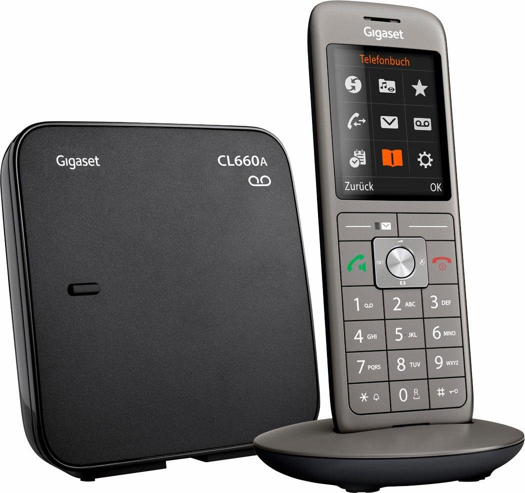 Gigaset »CL660A« Schnurloses DECT-Telefon (Mobilteile: 6, Anrufbeantworter, Weckfunktion, Freisprechen)