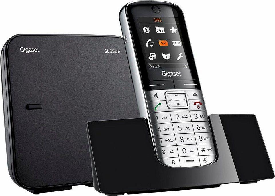 gigaset sl350a dect telefon anrufbeantworter mit 55 min. Black Bedroom Furniture Sets. Home Design Ideas