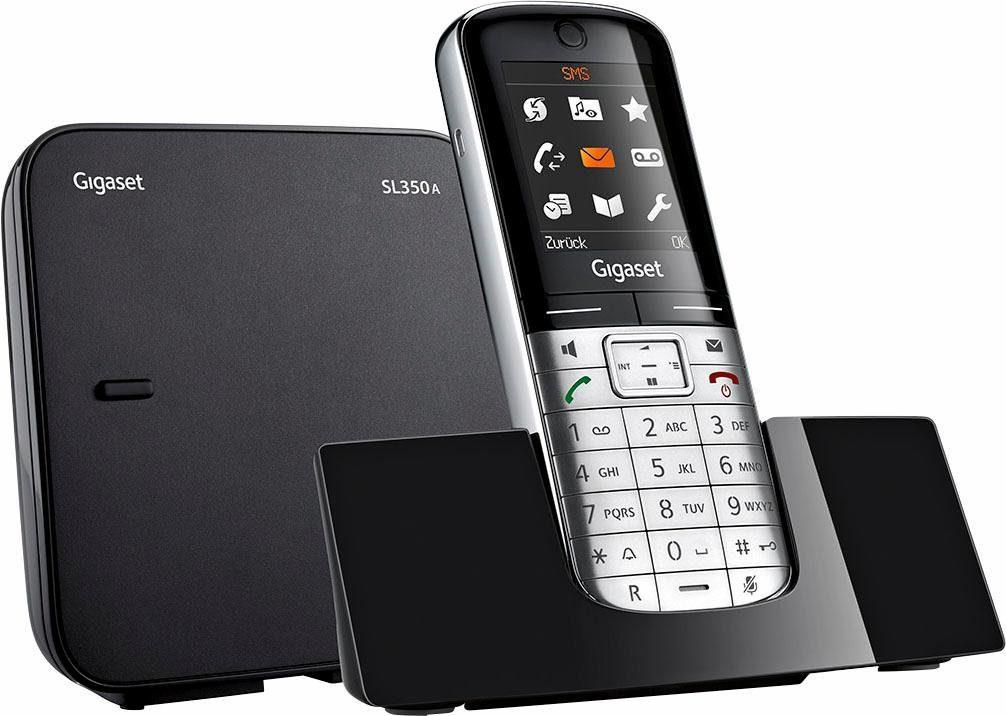 Gigaset »SL350A« Schnurloses DECT-Telefon (Mobilteile: 6, Anrufbeantworter, Weckfunktion, Freisprechen)