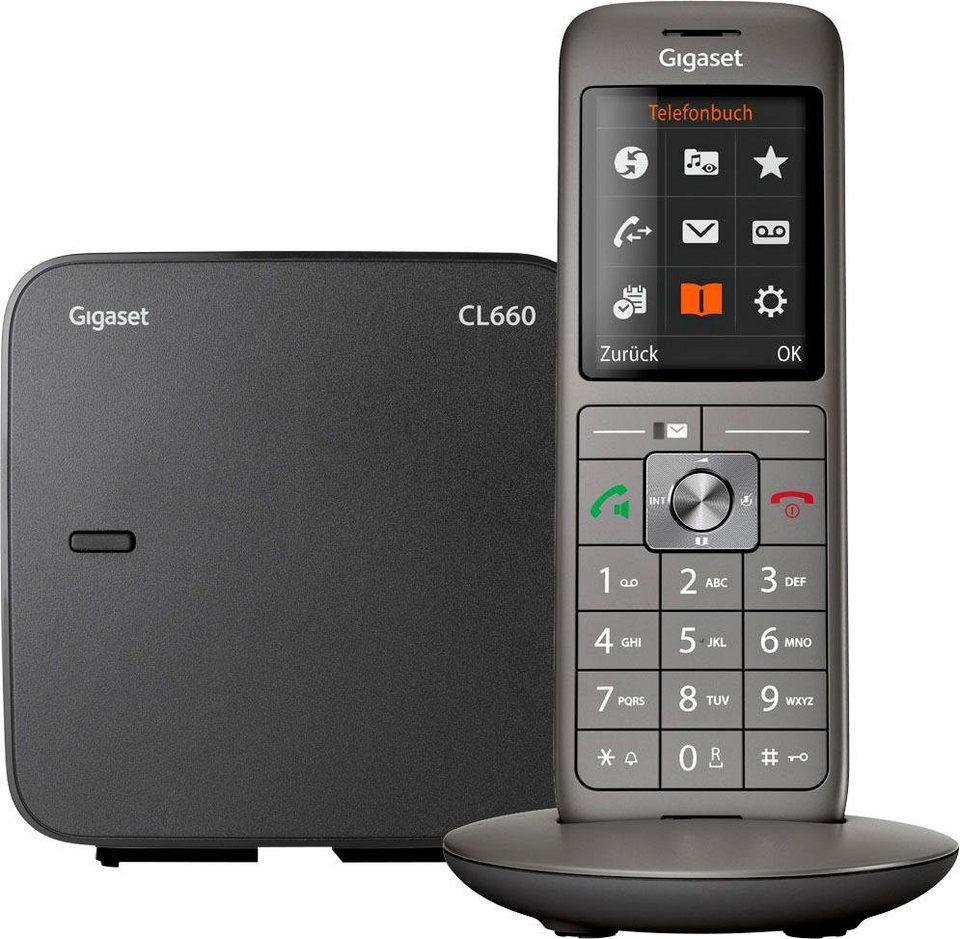 gigaset cl660 schnurloses dect telefon mobilteile 1. Black Bedroom Furniture Sets. Home Design Ideas