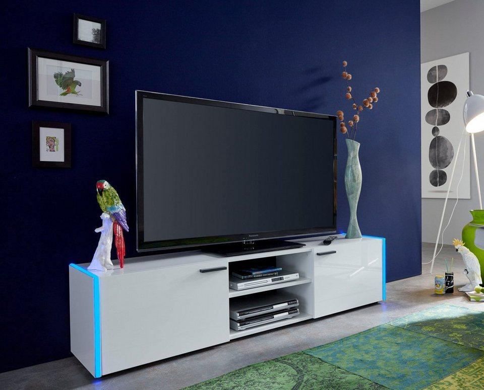 lowboard shark breite 160 cm inkl rgb beleuchtung online kaufen otto. Black Bedroom Furniture Sets. Home Design Ideas