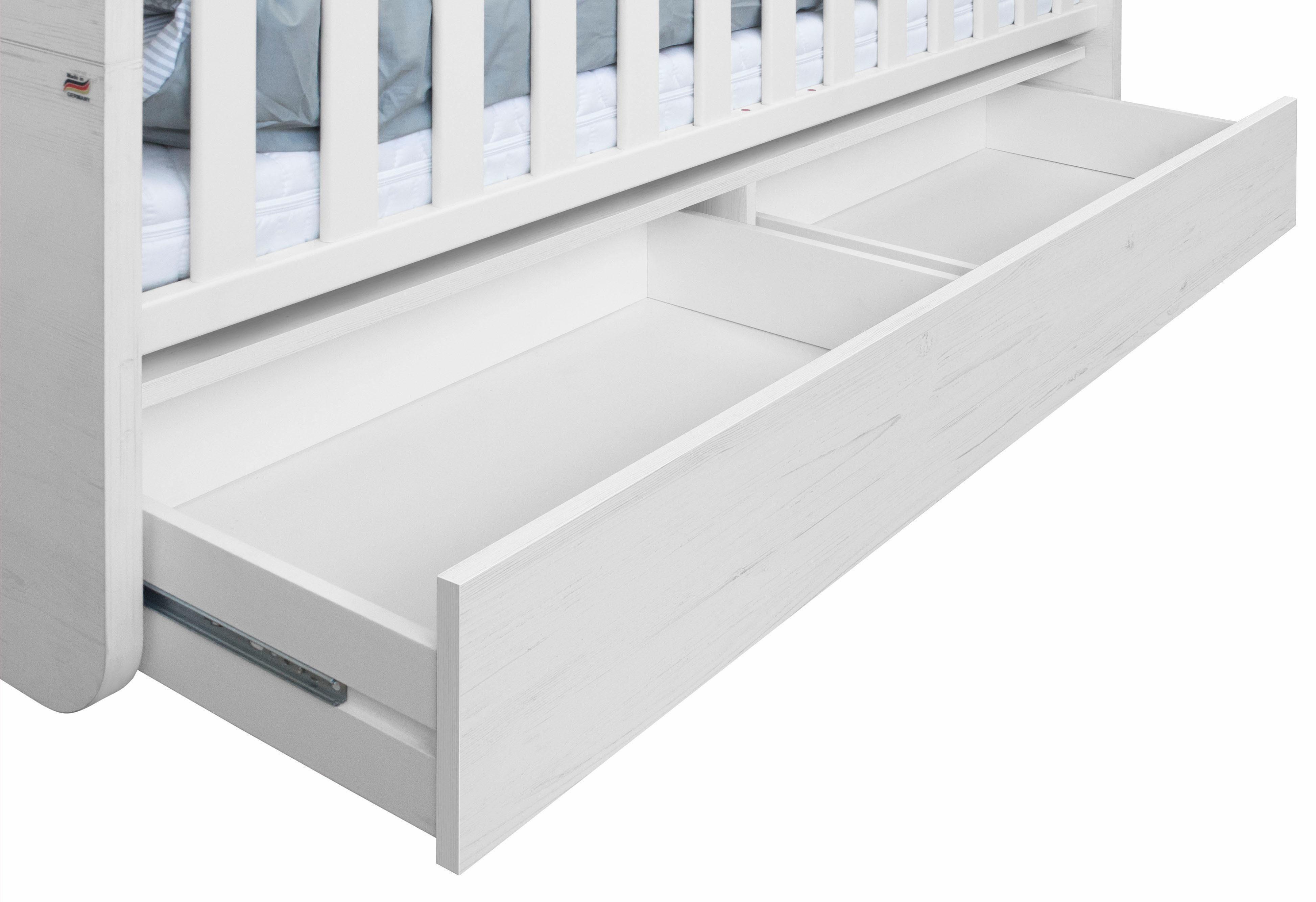 Unterbett-Schubkasten »Lillesand« in Pinie NB, weiß