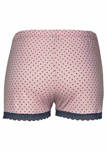 Edler Shortsamp; Trägertop Mit Nachtblau Shorty Lascana Gepunkteter rosa Gepunktet Kl1TFJc