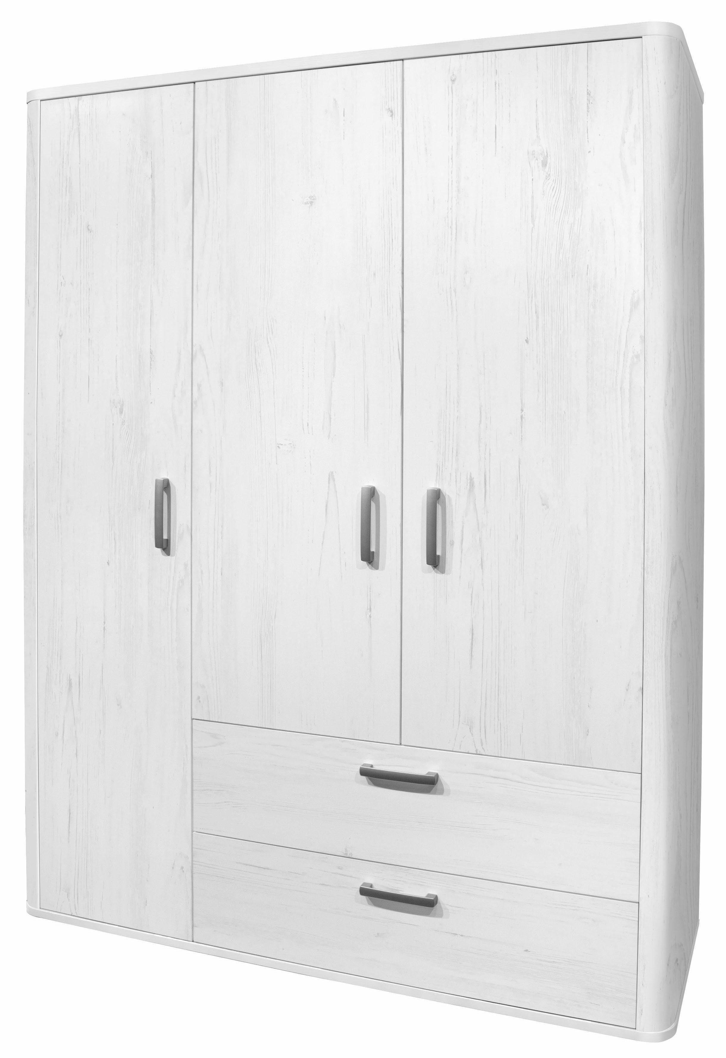 Kleiderschrank »Lillesand« in Pinie NB, weiß