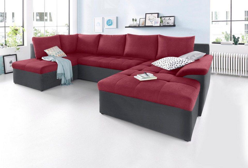 sit more wohnlandschaft xl wahlweise mit bettfunktion online kaufen otto. Black Bedroom Furniture Sets. Home Design Ideas