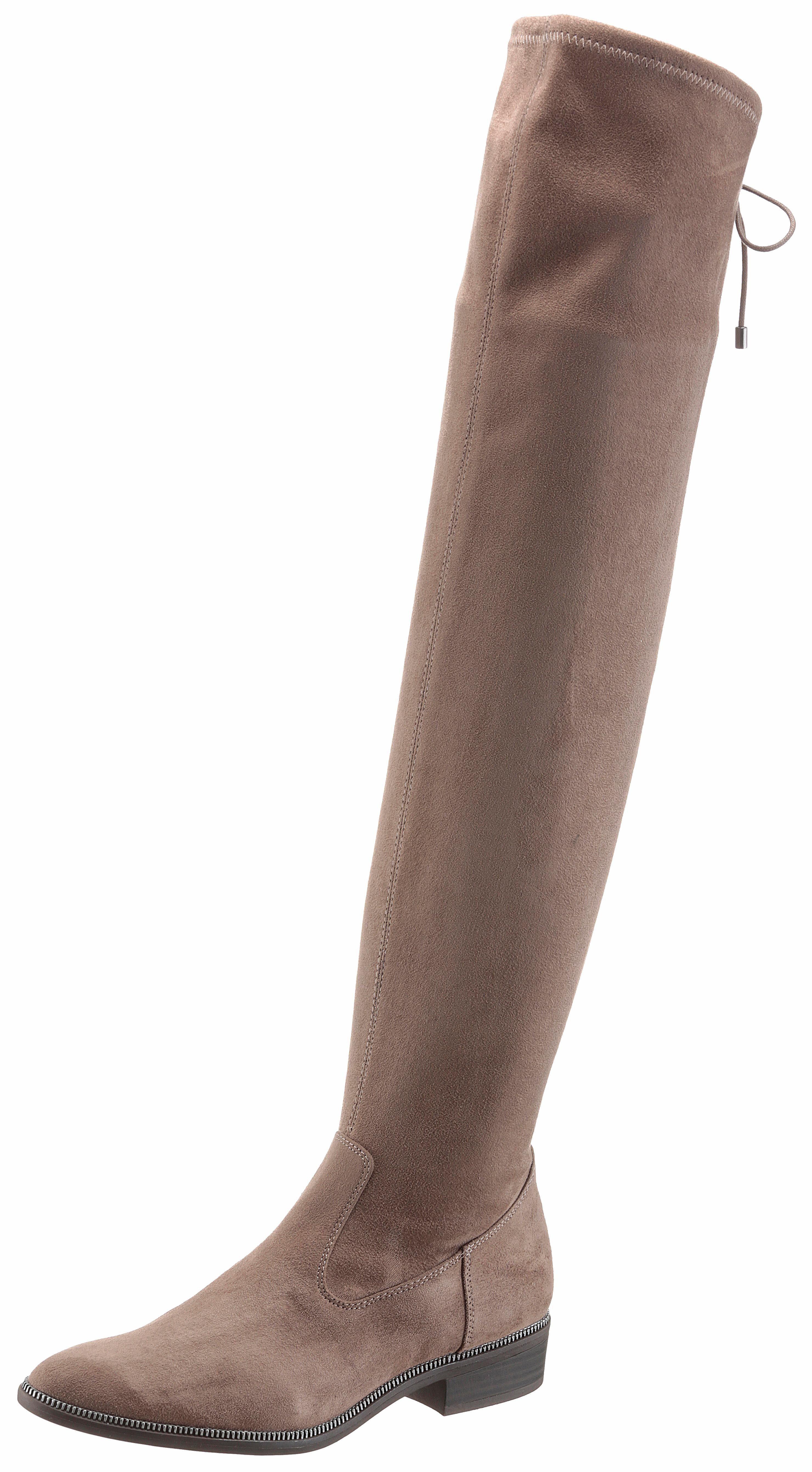 Tamaris Overkneestiefel, mit XS-Schaft kaufen  taupe