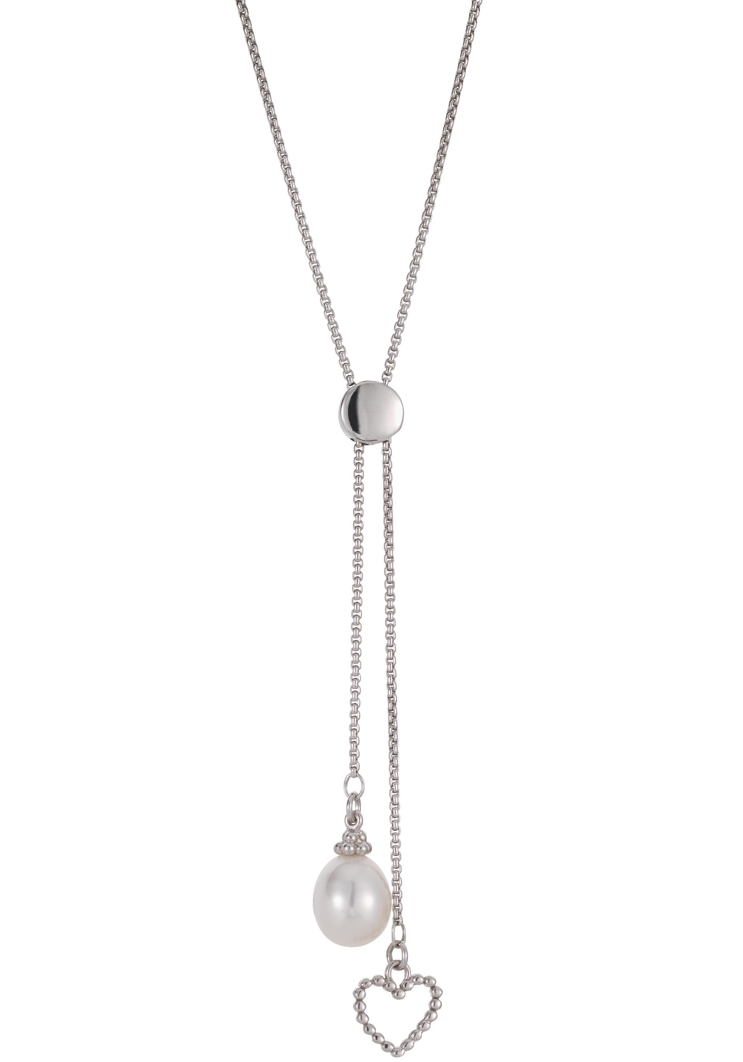 Adriana Kette mit Anhänger »Herz, A115« mit Süßwasserzuchtperle | Schmuck > Halsketten > Herzketten | Silber | Adriana