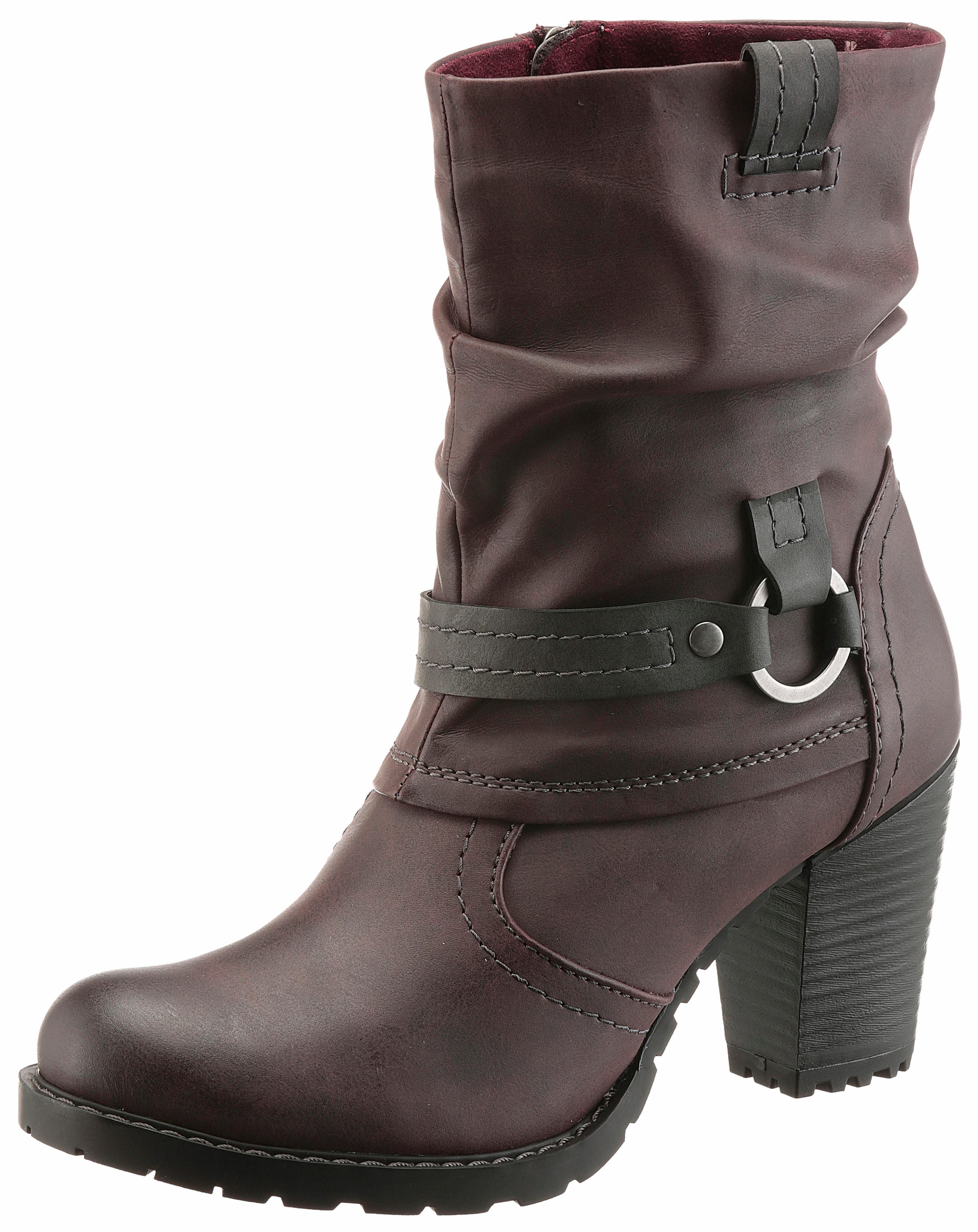 Tamaris Stiefelette, mit ergonomisch geformter Brandsohle, schwarz, EURO-Größen, schwarz