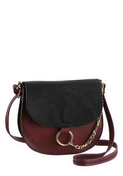 Laura Scott Umhängetasche, Crossbody Bag mit Zierkette
