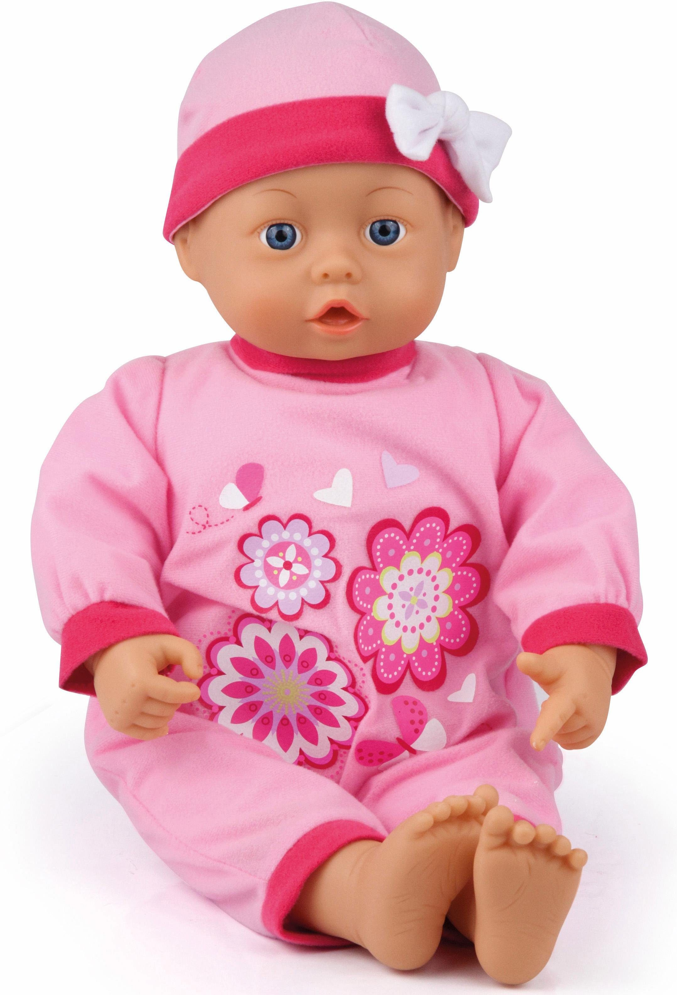 Bayer Design Babypuppe mit Funktion, »First Words Baby, rosa 46 cm«