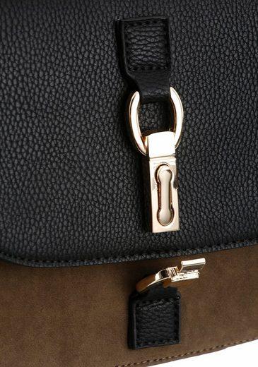 Laura Scott Umhängetasche, Crossbody Bag mit abnehmbarer Fransenapplikation