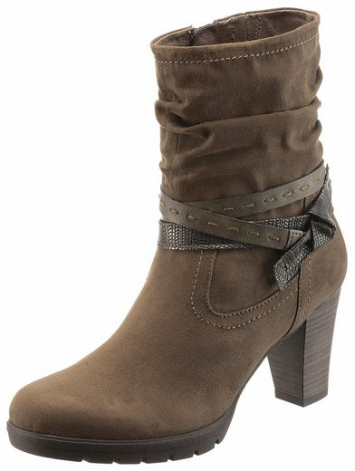 Tamaris Ankle Boot, With Beautiful Decorative Ribbons