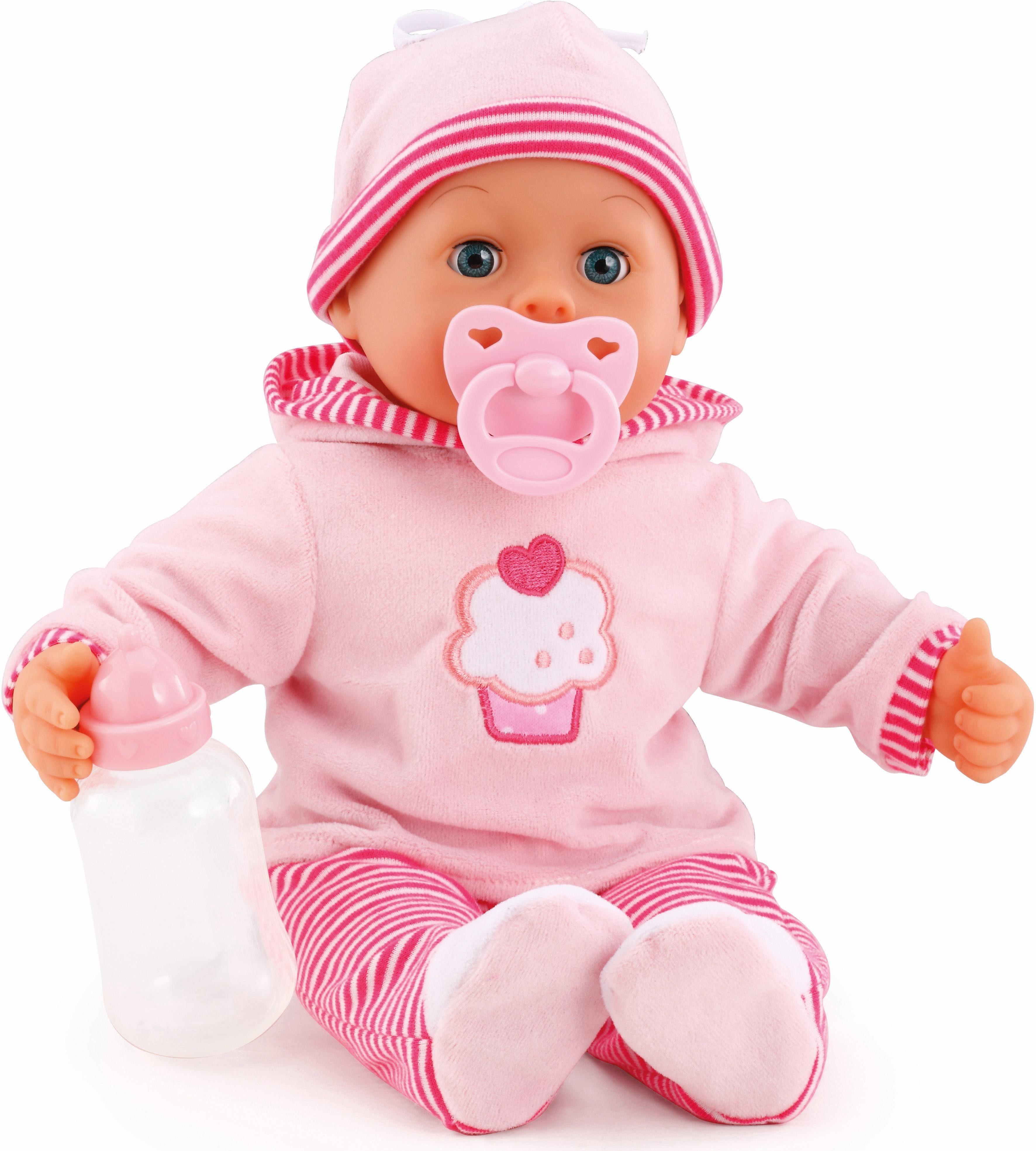 Bayer Design Babypuppe mit Funktion, »First Words Baby, pink 38 cm«