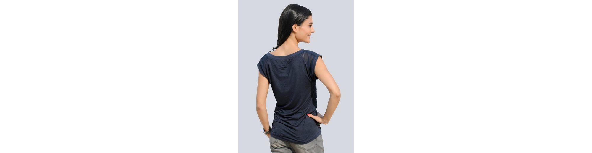 Verkauf Browse Alba Moda Shirt im Materialmix Rabatt 100% Garantiert Frei Verschiffen Geringster Preis iub9TNghJL