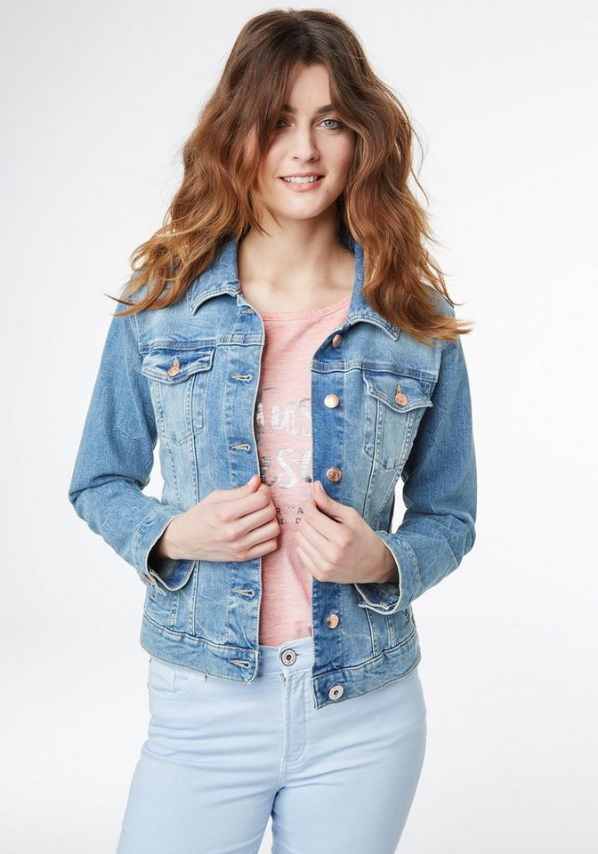 pioneer jeansjacke damen denim jacket kaufen otto. Black Bedroom Furniture Sets. Home Design Ideas