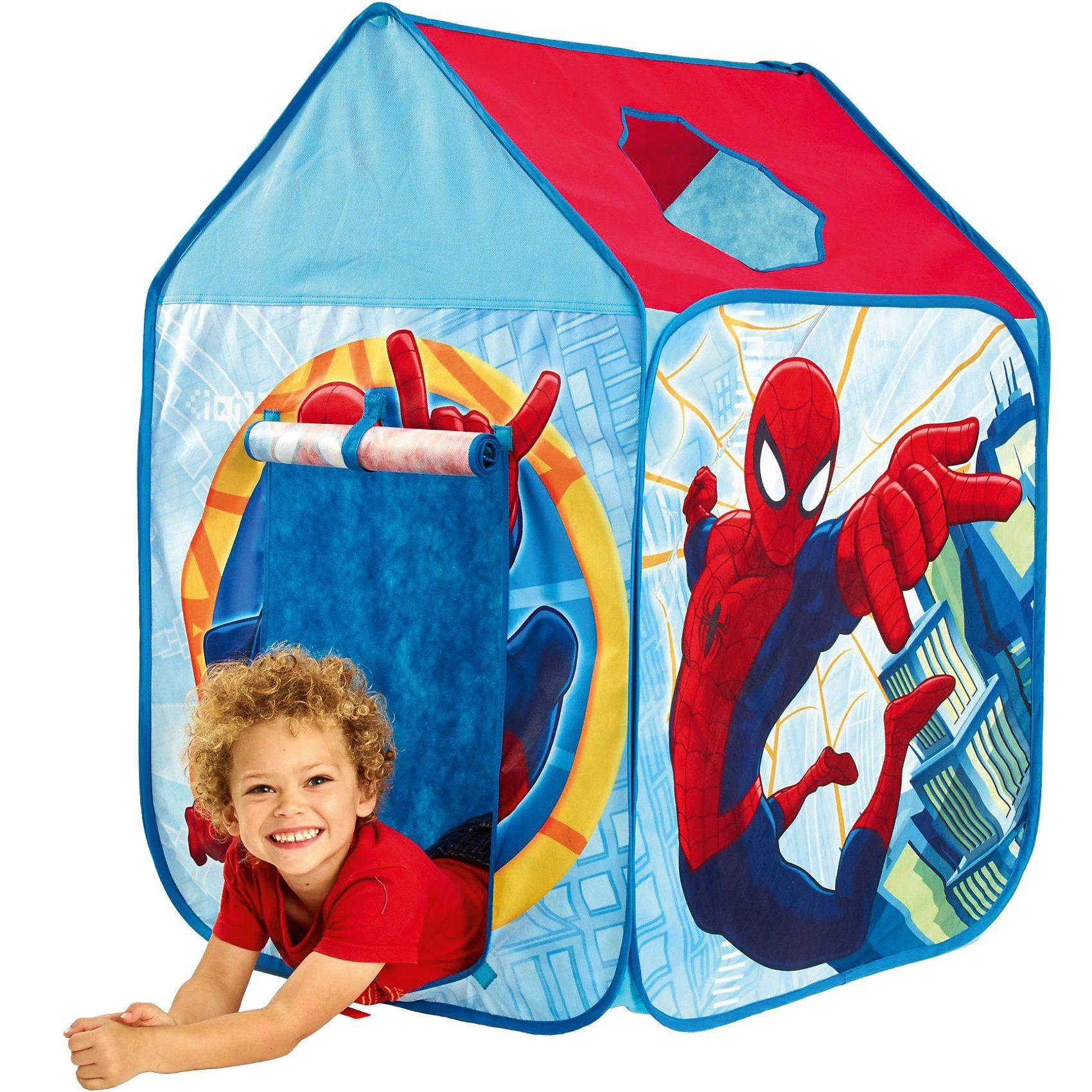 WORLDS APART Spielzelt, Spiderman, rot