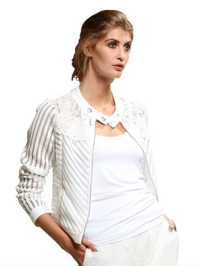 Alba Moda Jacket At An Acute-mix In Light Transparency