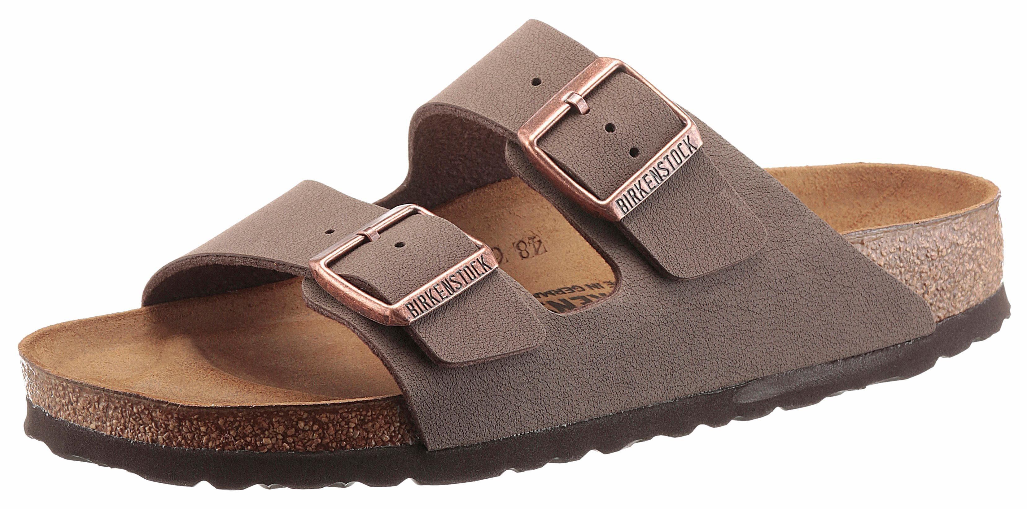 Birkenstock ARIZONA BF Pantolette, in Schuhweite schmal, mit ergonomisch geformten Fußbett online kaufen  mokka