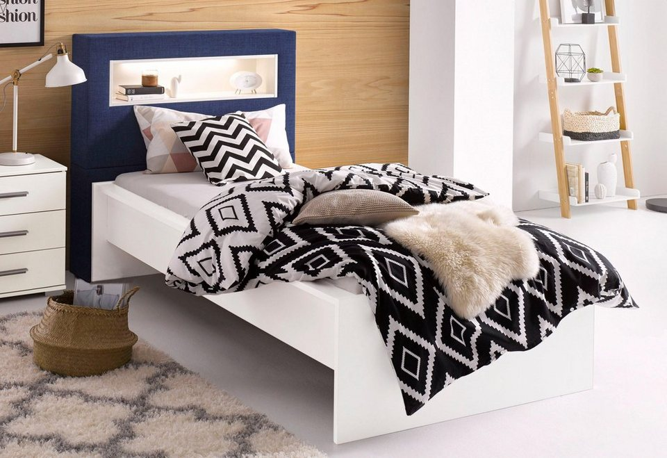 breckle futonbett praktisches regal im kopfteil online kaufen otto. Black Bedroom Furniture Sets. Home Design Ideas