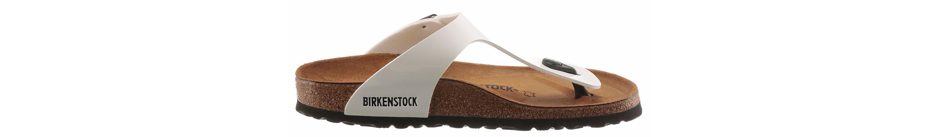 Birkenstock GIZEH Zehentrenner, in schmaler Schuhweite und Lack-Optik