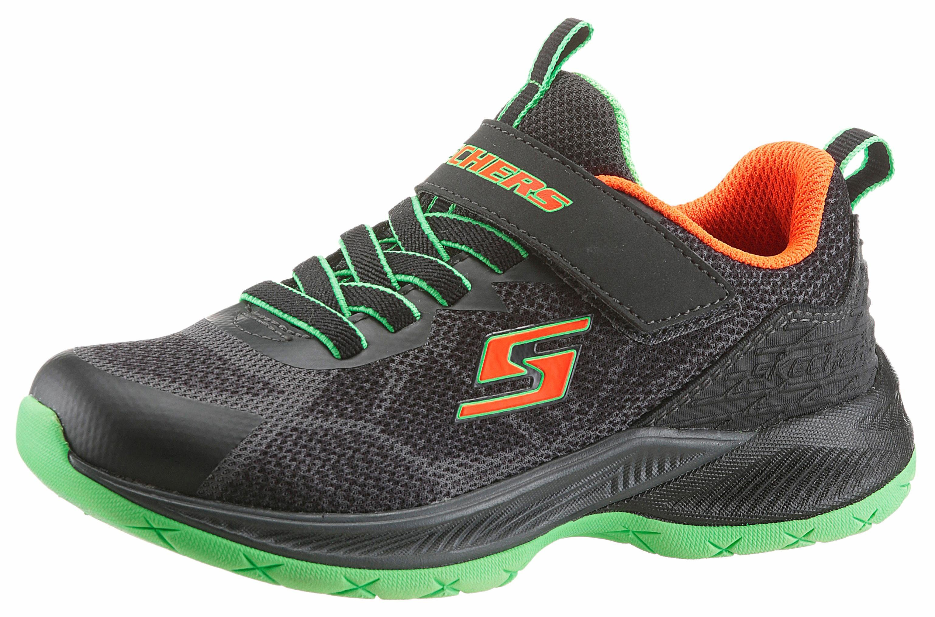 Skechers Kids Sneaker, zum Schlupfen mit Klettriegel, schwarz, 32 32
