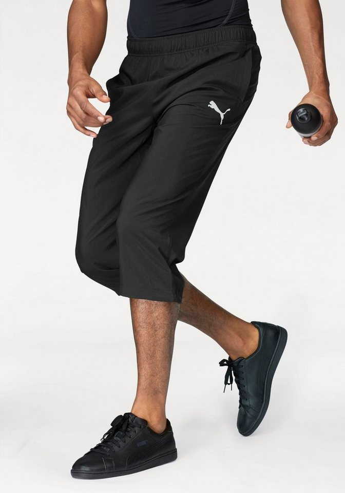 puma sporthose ess woven 3 4 pants mit verstellbarem elastikband im beinabschluss online. Black Bedroom Furniture Sets. Home Design Ideas