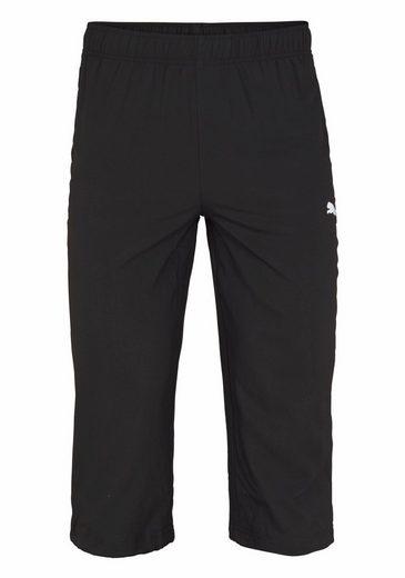 PUMA Sporthose ESS WOVEN 3/4 PANTS, mit verstellbarem Elastikband im Beinabschluss
