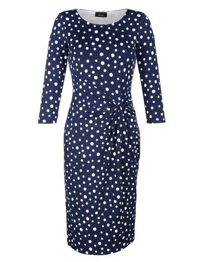 Paola Jerseykleid mit raffinierter Drapierung im Vorderteil