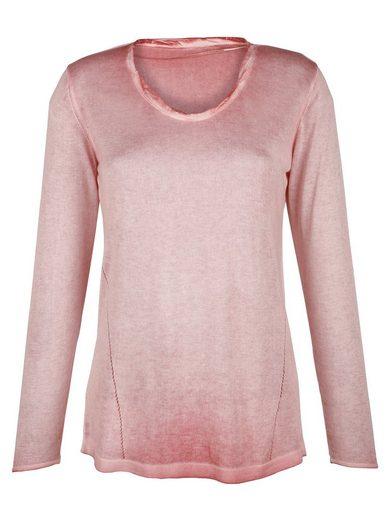 Alba Moda Pullover mit modischem Reverseprint