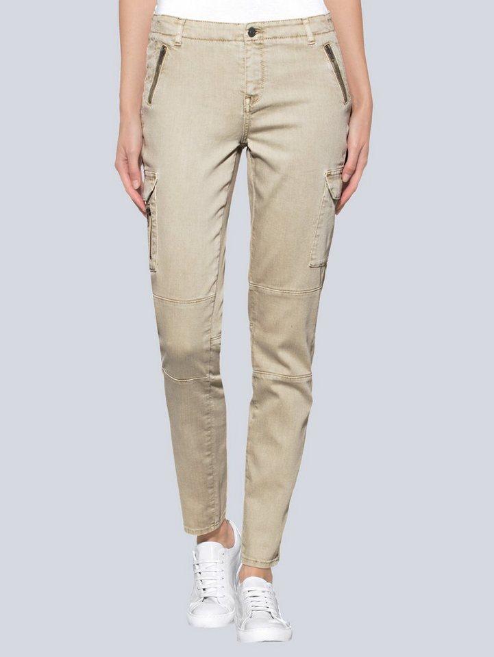 Alba Moda Cargojeans in modichser Waschung | Bekleidung > Jeans > Cargojeans | Baumwolle - Polyester - Elasthan | Alba Moda