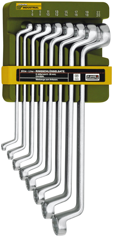 PROXXON Maulschlüsselsatz »Doppel-Ringschlüsselsatz, von 6 x 7 bis 20 x 22 mm«, (8 tlg.)