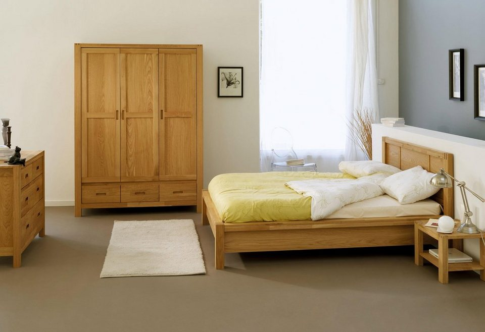 home affaire bett ethan in drei gr en in ansprechender kassettenoptik online kaufen otto. Black Bedroom Furniture Sets. Home Design Ideas