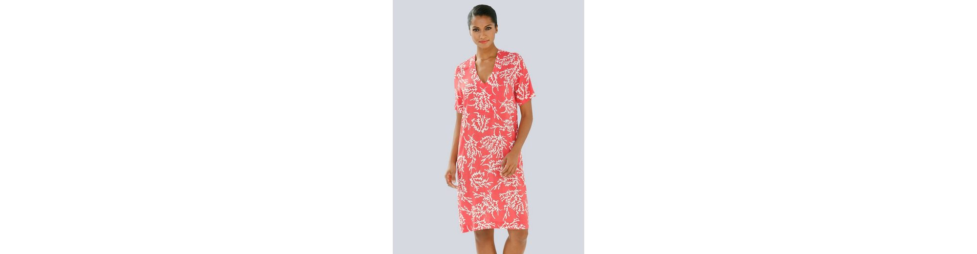 Alba Moda Tunika-Kleid mit Korallendruck Billig Größte Lieferant JpQrDu2