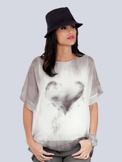 Alba Moda 2-in-1-Bluse Modischer Print mit Farbverlauf