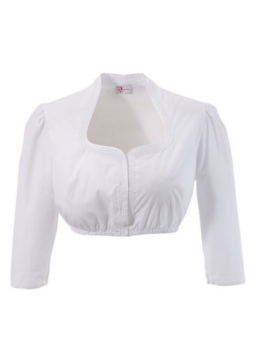 Turi Country House Dirndl Blouse With Flattering Chalice Collar