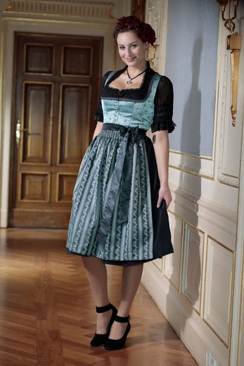 Turi Country House Dirndl Midi With Carré-cutting