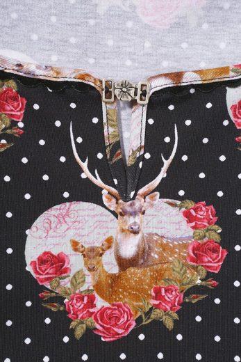 Country Line Trachtenshirt Damen mit dekorativer Brosche