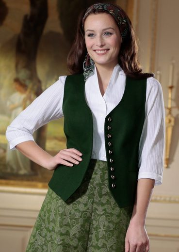 Hohenstaufen Costume Vest Ladies With Piped
