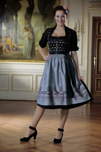 Country Line Dirndl midi in schimmernder Optik