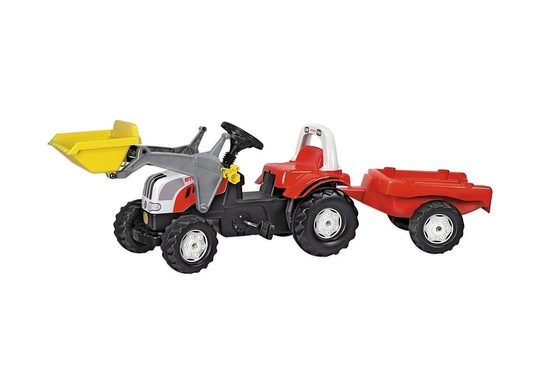 "rolly toys® Trettraktor ""rollyKid Steyr 6165 CVT"", mit Frontlader und Anhänger"