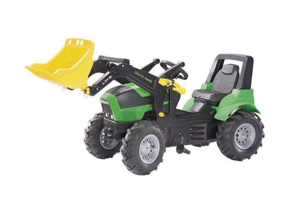Rolly toys® trettraktor mit frontlader und luftbereifung