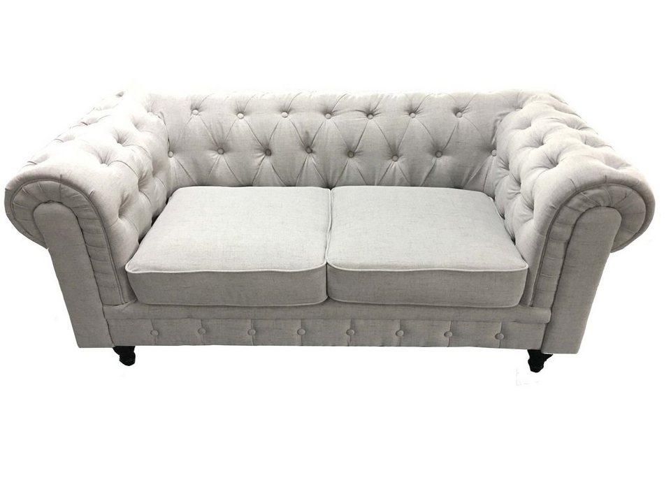 hti living 2 sitzer sofa chesterfield light kaufen otto. Black Bedroom Furniture Sets. Home Design Ideas