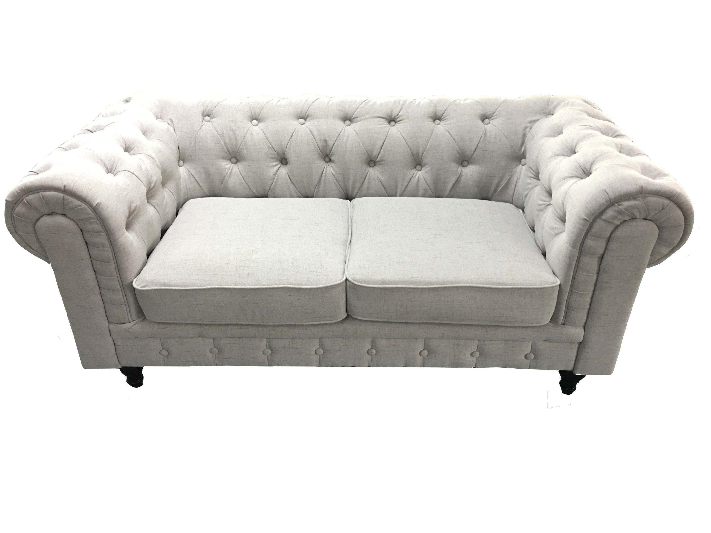 HTI-Living 2 Sitzer Sofa Chesterfield Light