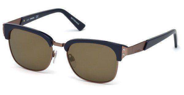 Diesel Sonnenbrille » DL0235«, blau, 92L - blau/braun
