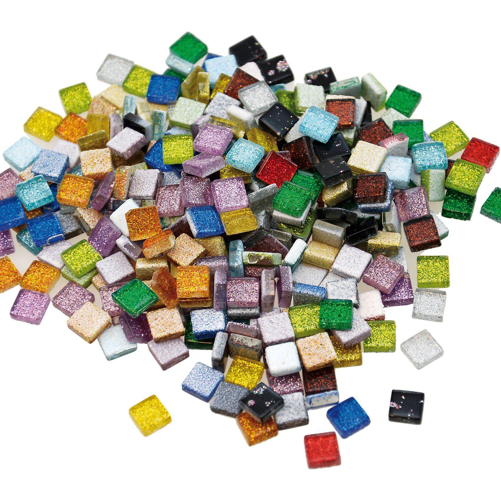 Playbox Glitzer-Mosaiksteine, 10 x 10 mm, 300 Stück