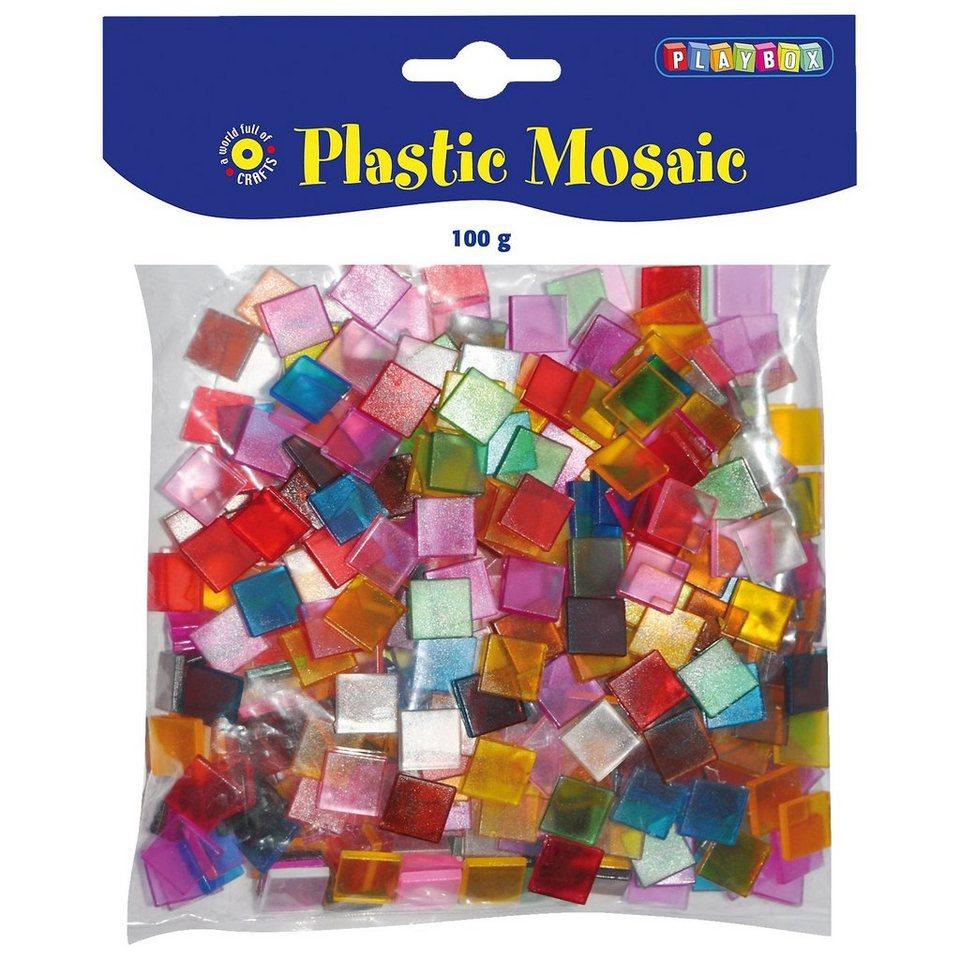 Playbox Kunststoff-Mosaiksteine, 10 x 10 mm, 100 g