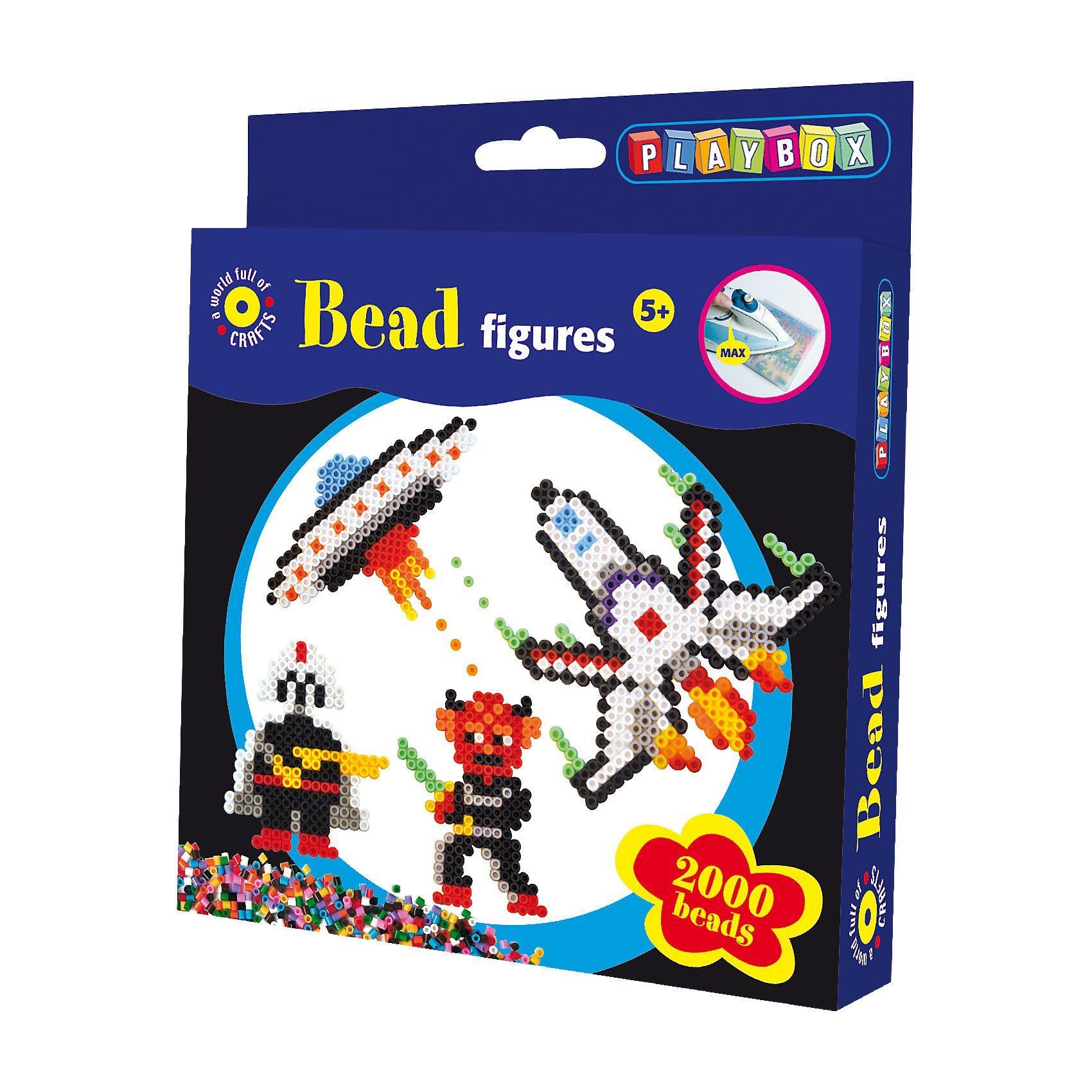 Playbox Bügelperlenset Weltraum, 2.000 Perlen & Zubehör