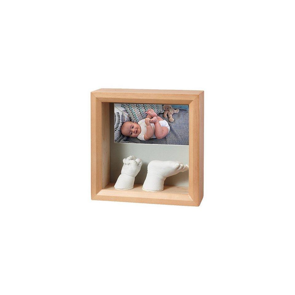 BABY ART Bilderrahmen mit 3D Gipsabdruck, honey | OTTO