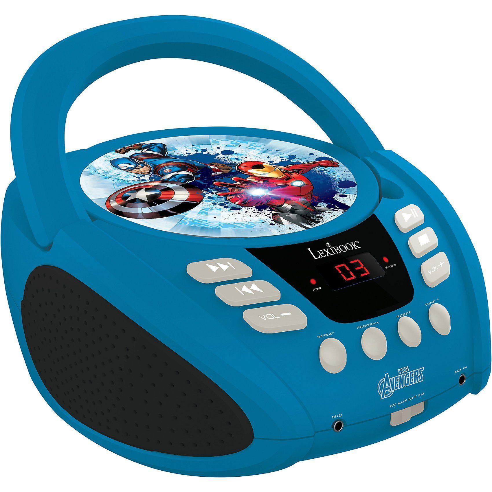 LEXIBOOK Marvel Avengers CD-Player mit Radio (Neues Design)